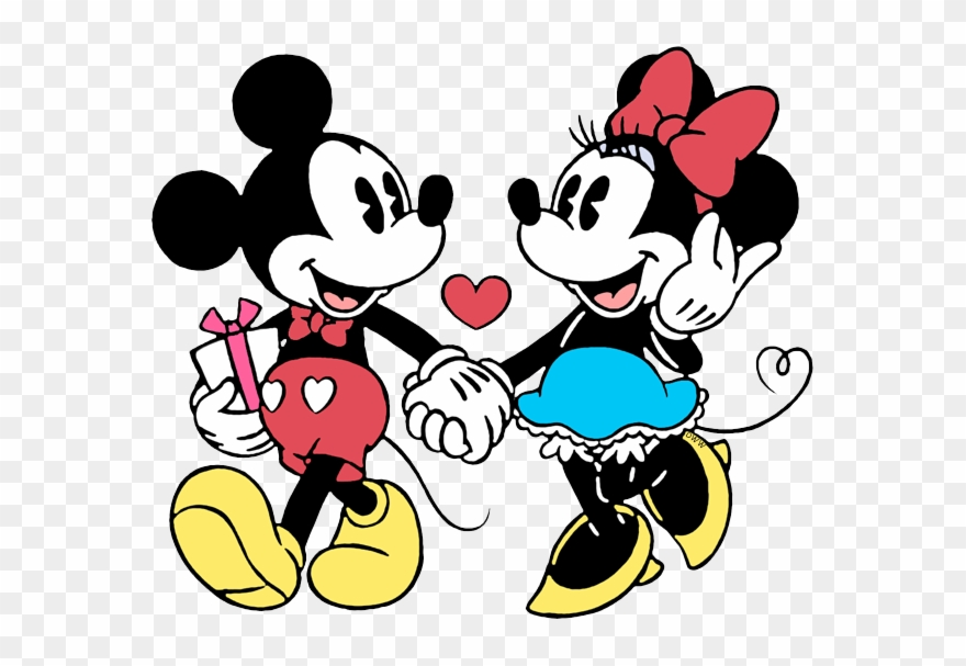 New Mickey, Minnie Walking Hand In Hand Clipart (#2736836.