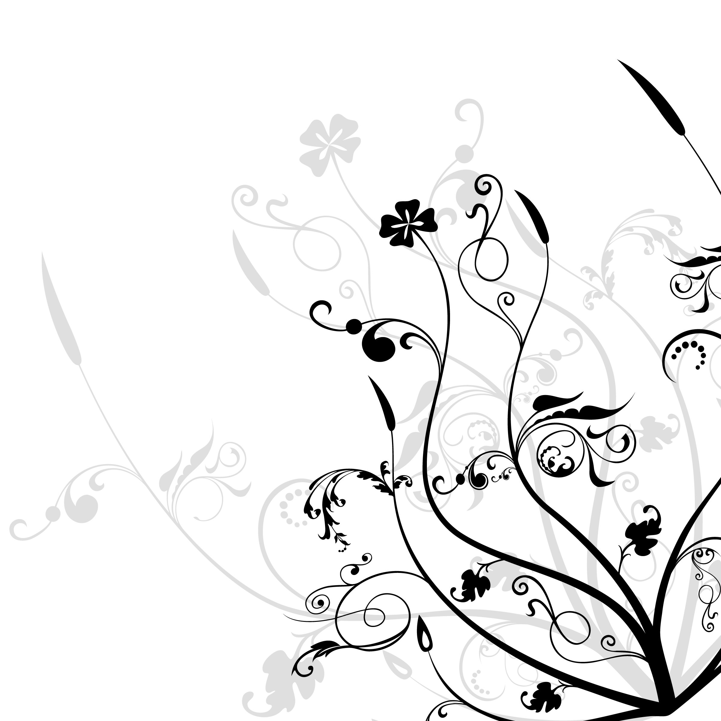 Free Black And White Flower Designs, Download Free Clip Art.