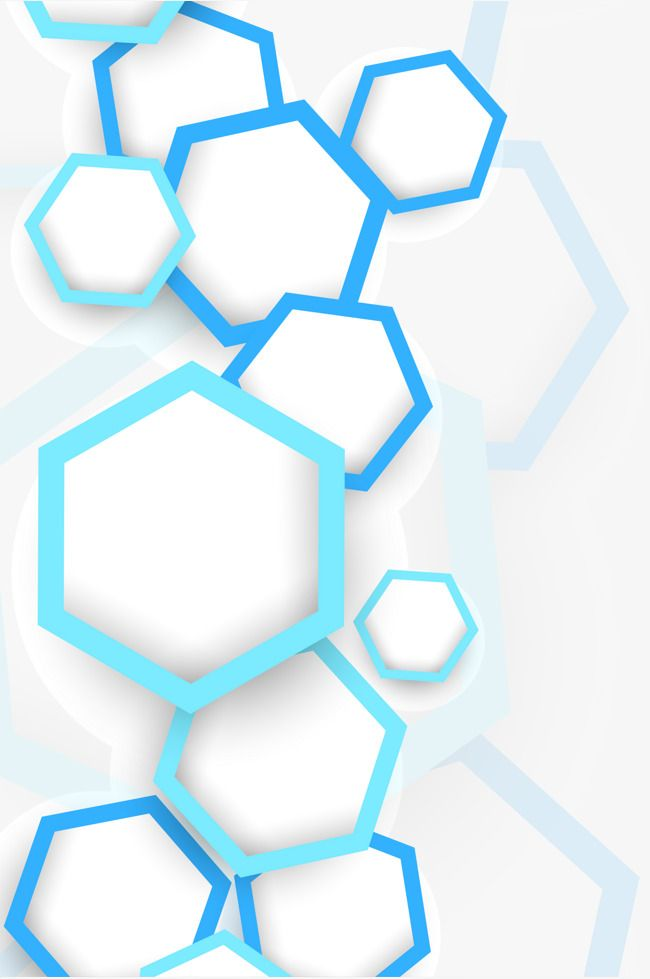 Hexagon Graphics Background Vector, Geometry, Blue, Creative PNG and.
