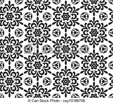Vector Clipart of Abstract seamless wallpaper pattern.