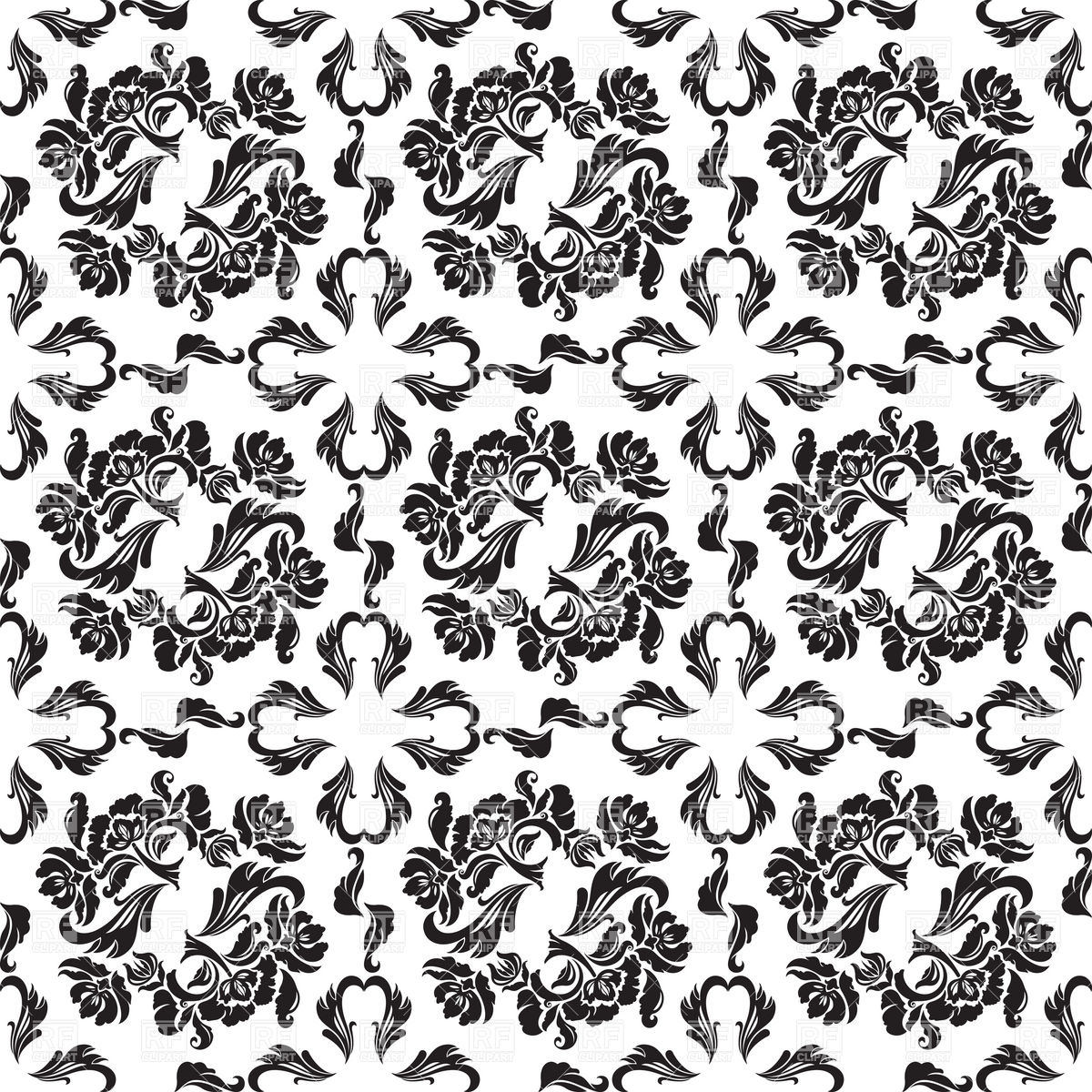 Seamless victorian wallpaper with floral pattern Vector Image.