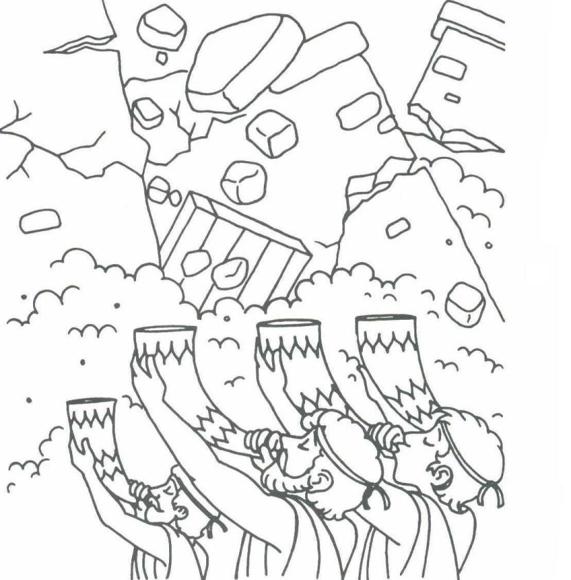 Free Joshua And The Wall Of Jericho Coloring Pages, Download.