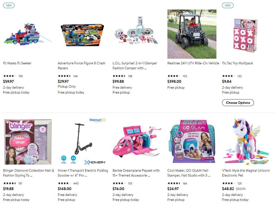 Walmart Top Toys List 2019.
