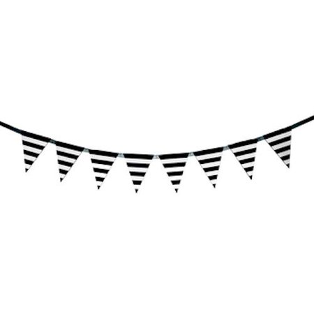 Black and White Striped Banner Party Decoration Party Supplies.