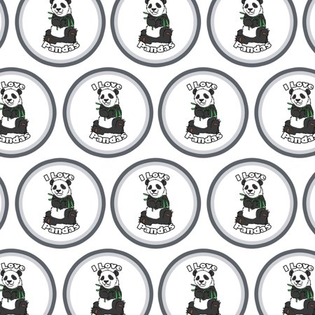 I Love Pandas Bamboo Premium Gift Wrap Wrapping Paper Roll.