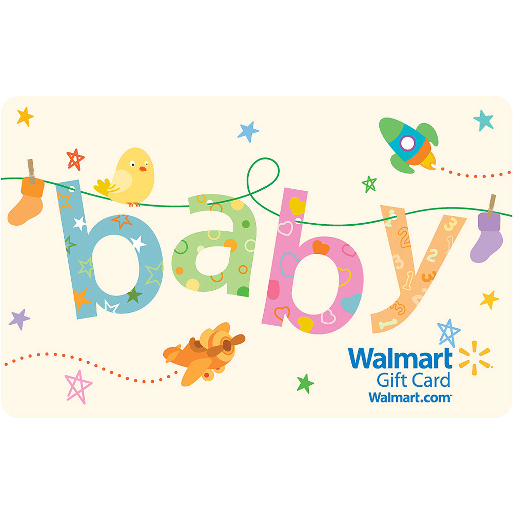 Baby Clothesline Gift Card.