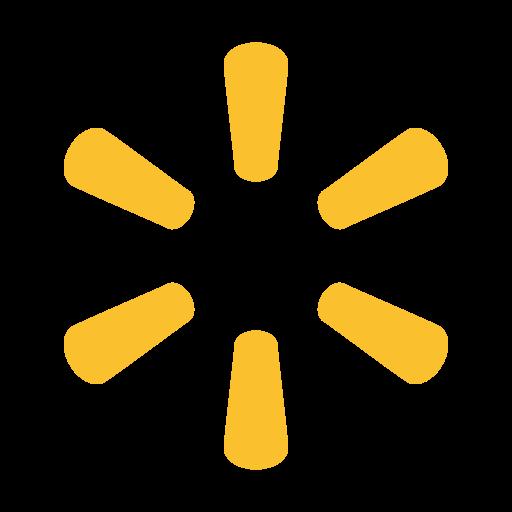 Walmart Logo Icon of Flat style.