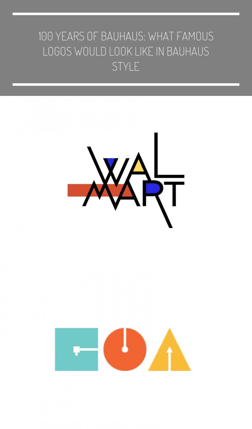 Walmart logo in Bauhaus design style #History logo.