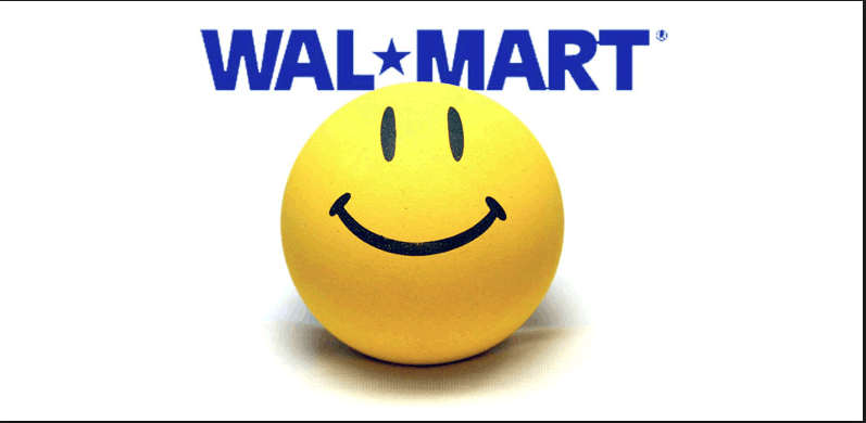 Walmart smiley face Logos.