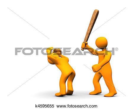 Stock Illustration of Violent Felony k4595655.