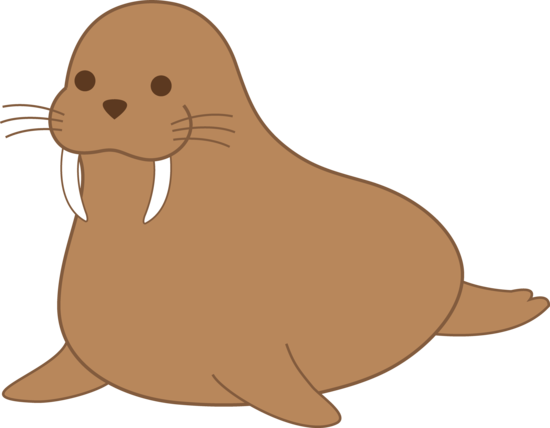 cute walrus clipart black and white free #18