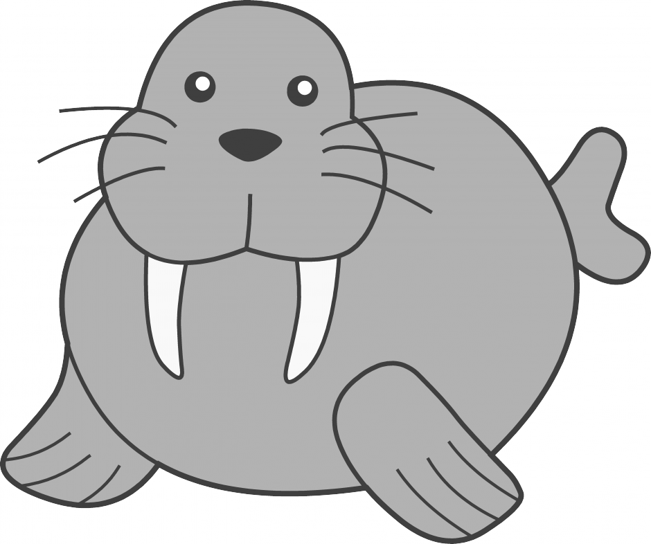 Walrus clipart free images.