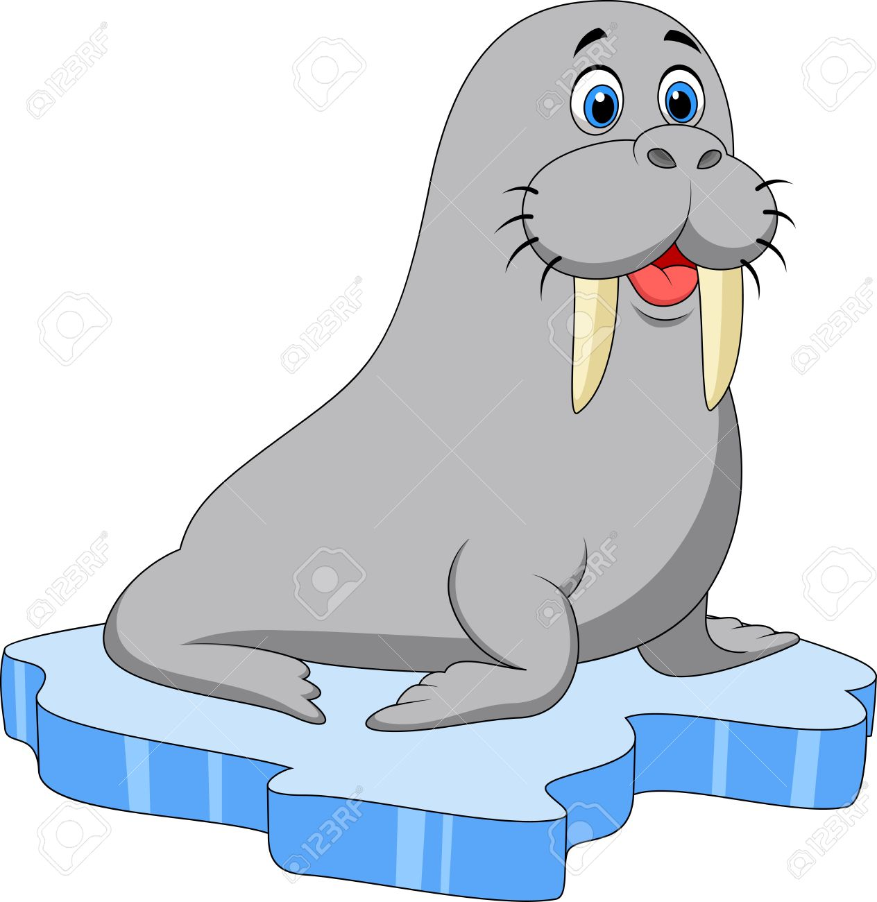 234 Walrus free clipart.