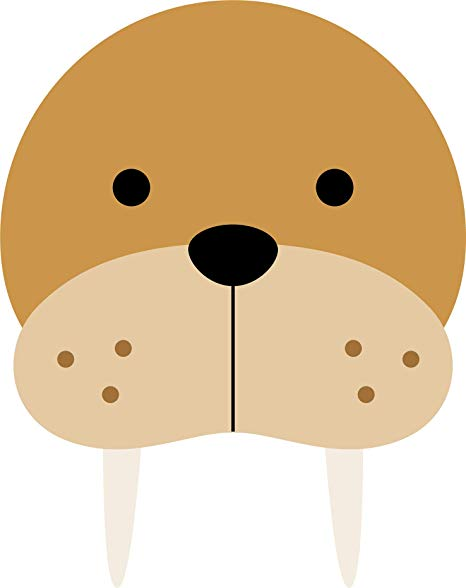 Amazon.com: Cute Sweet Wild Animal Cartoon Emoji Face Head.
