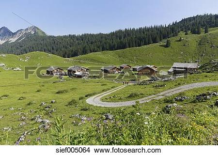 Stock Photo of Austria, Vorarlberg, Biosphere Reserve Great Walser.
