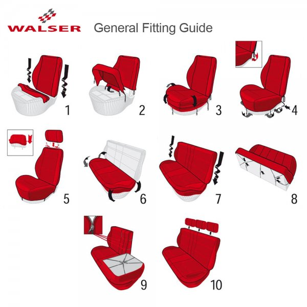 Walser DotSpot Premium Car Seat Covers.