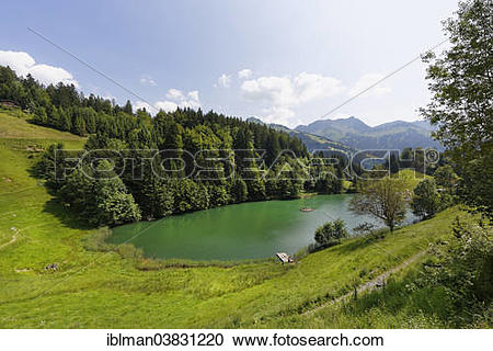"Stock Photography of ""Seewaldsee lake near Fontanella, Grosses."