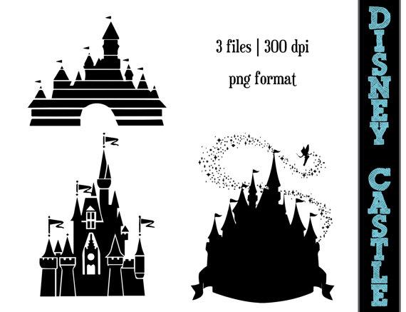 Disney Princess Castle Silhouettes // Castles Silhouette // Disney.