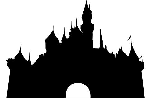 Vector and Walt Disney World Castle Clipart Silhouette 708.