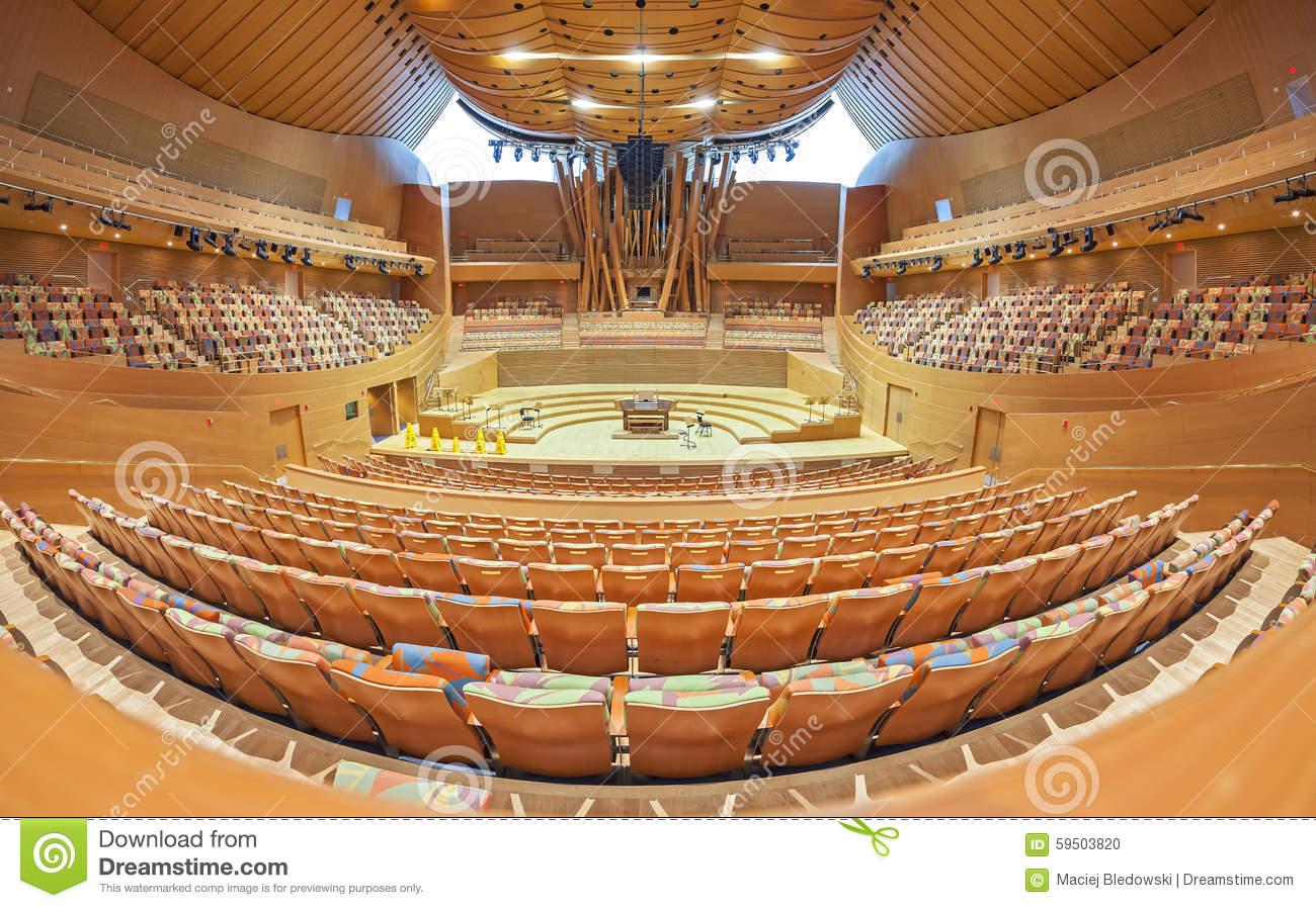 Interior Of The Walt Disney Concert Hall. Editorial Image.
