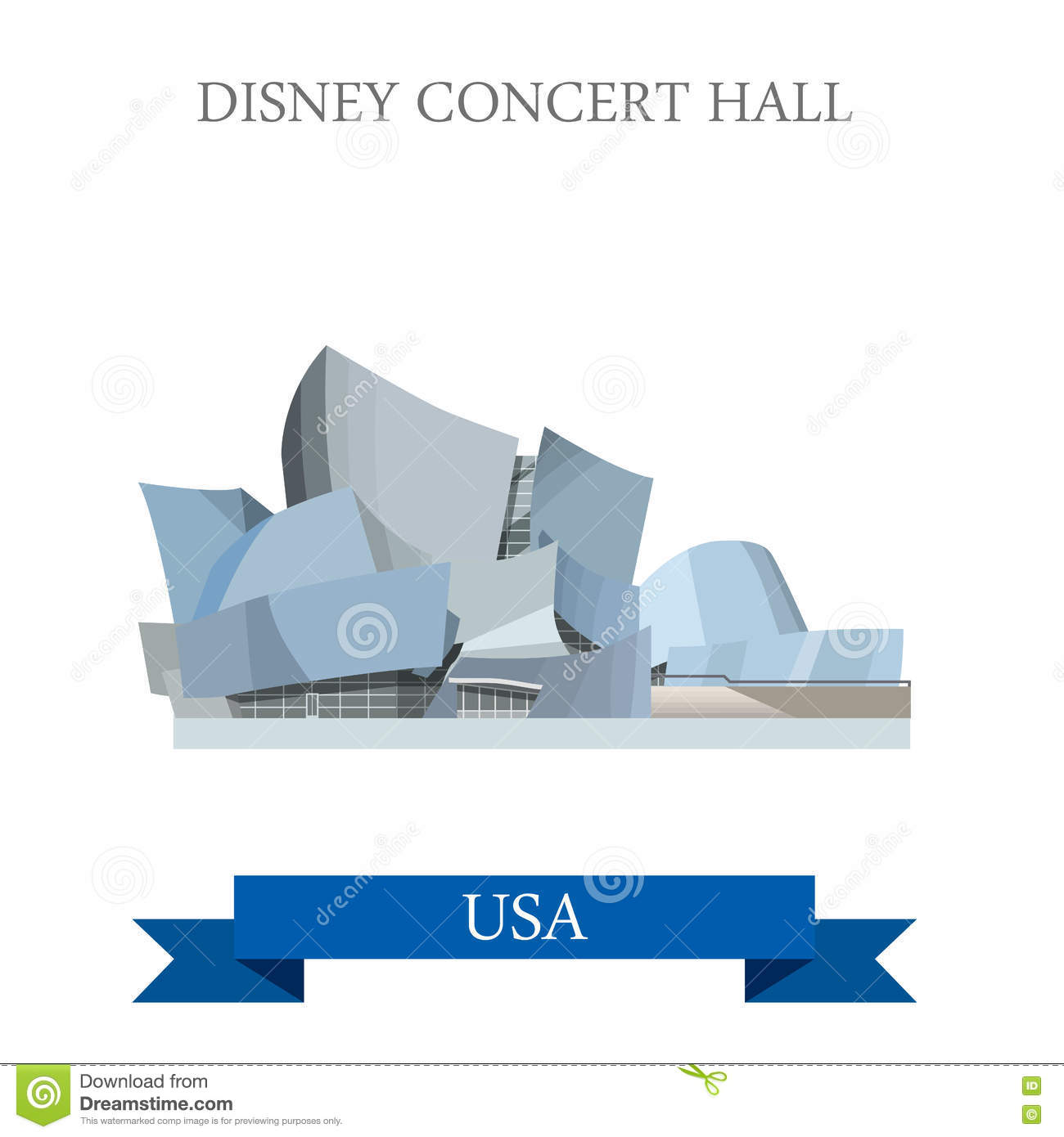 Walt Disney Concert Hall Los Angeles United States Editorial Photo.