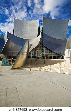 Stock Photo of Walt Disney Concert Hall (2004) by architect Frank.