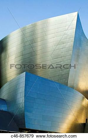 Stock Photograph of Walt Disney Concert Hall (2004) by architect.
