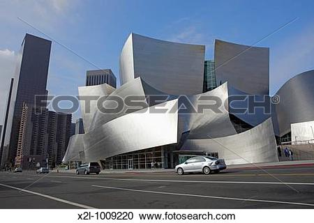 Stock Photography of Walt Disney Concert Hall Downtown Los Angeles.