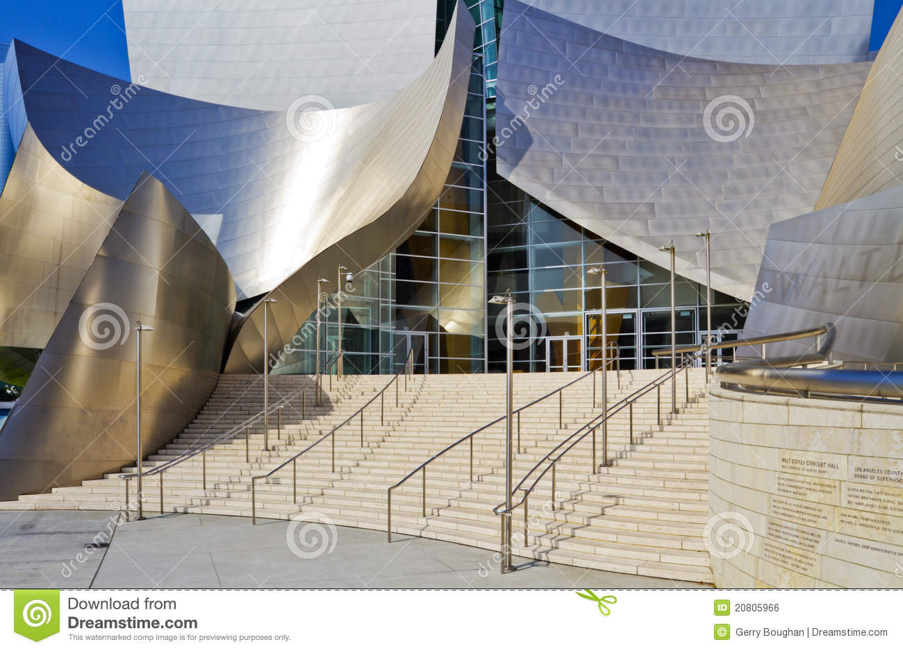 Main Entrance Of The Walt Disney Concert Hall Editorial Photo.