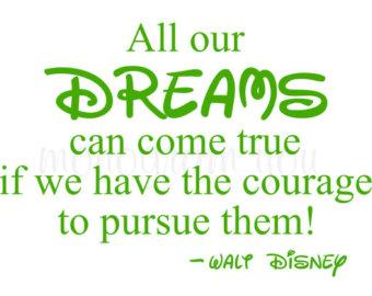 Disney dream decal.