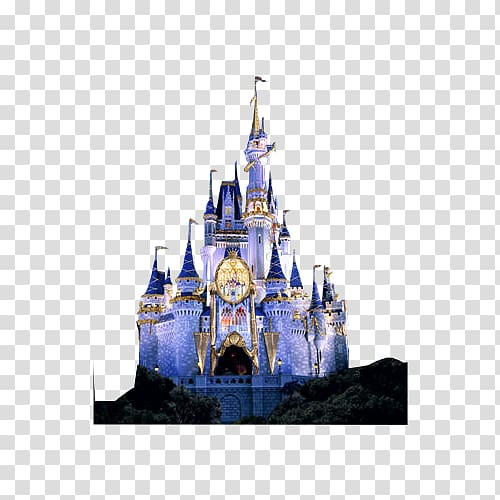 White and blue castle illustration, Sleeping Beauty Castle.