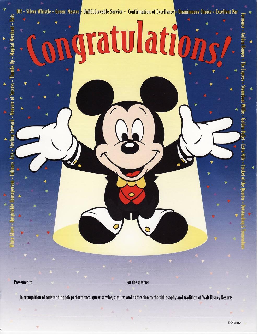 Reward & Recognition at the Walt Disney World Resort.