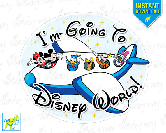 I'm going to Disney World Airplane with Mickey and Minnie INSTANT.