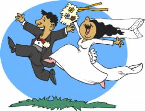 Walt Disney World Wedding Clipart.