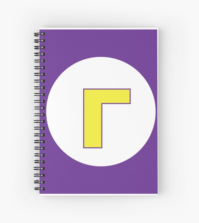 \'Waluigi Logo\' Spiral Notebook by JMermelstein.