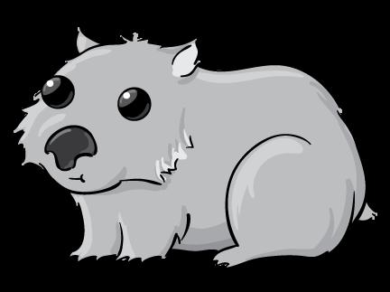 Free Cartoon Wombat, Download Free Clip Art, Free Clip Art.