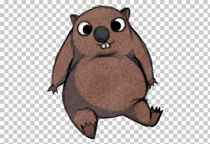 Wombat Dingo Cartoon , Cartoon Wombat PNG clipart.