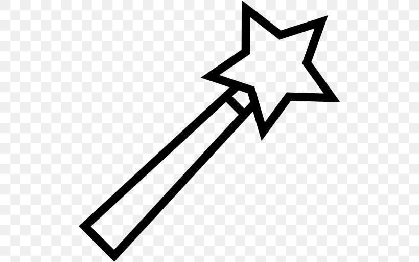 Wand Magic Clip Art, PNG, 512x512px, Wand, Area, Black.