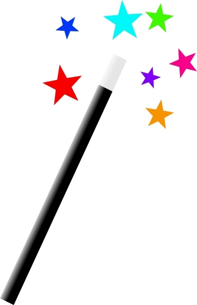 Magic Wand clip art Free vector in Open office drawing svg ( .svg.