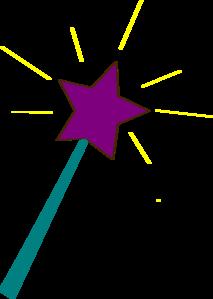 Star wand clip art.