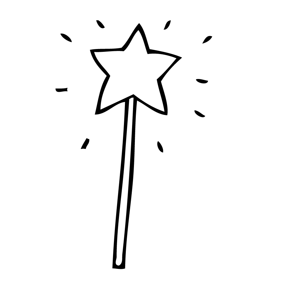 Wand PNG Black And White Transparent Wand Black And White.