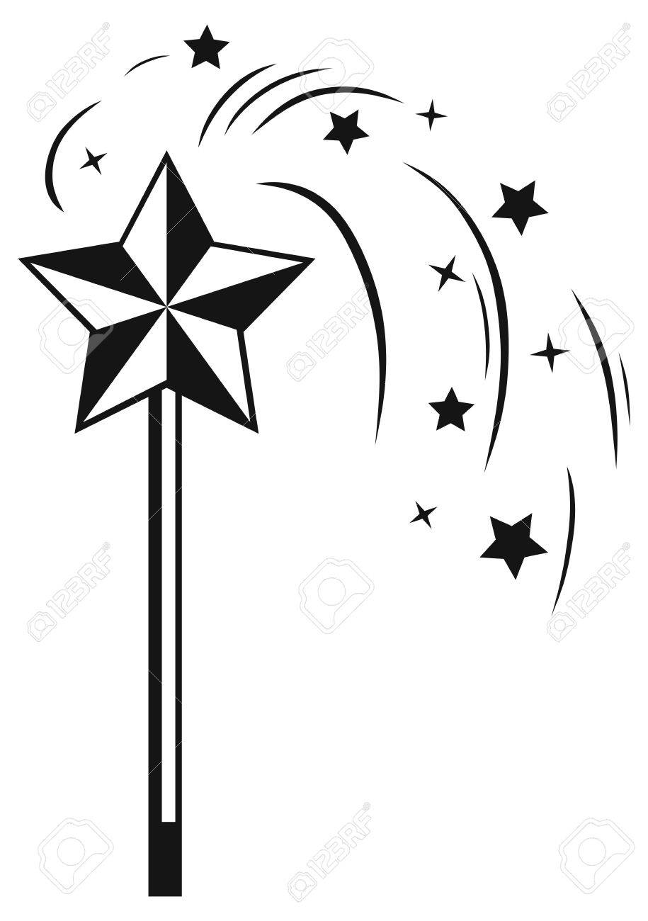 Magic wand clipart black and white 4 » Clipart Station.