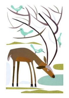 Roman Muradov's wonderful illustration to the Wandering Rocks.