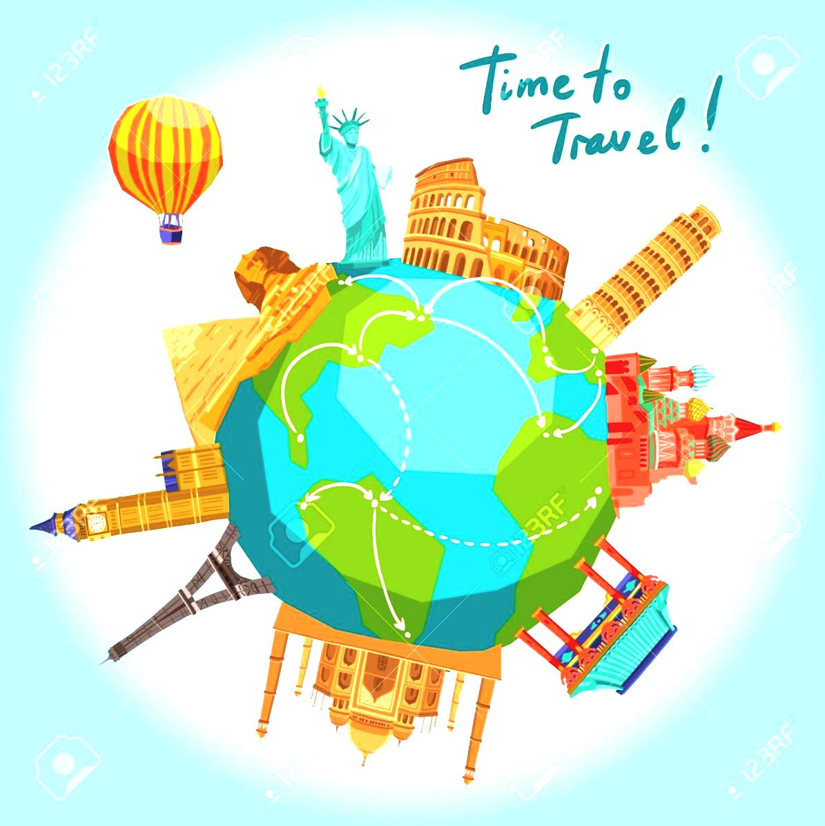 Travel Around The World Clipart Wanderlust Stock Photos By Itweb.