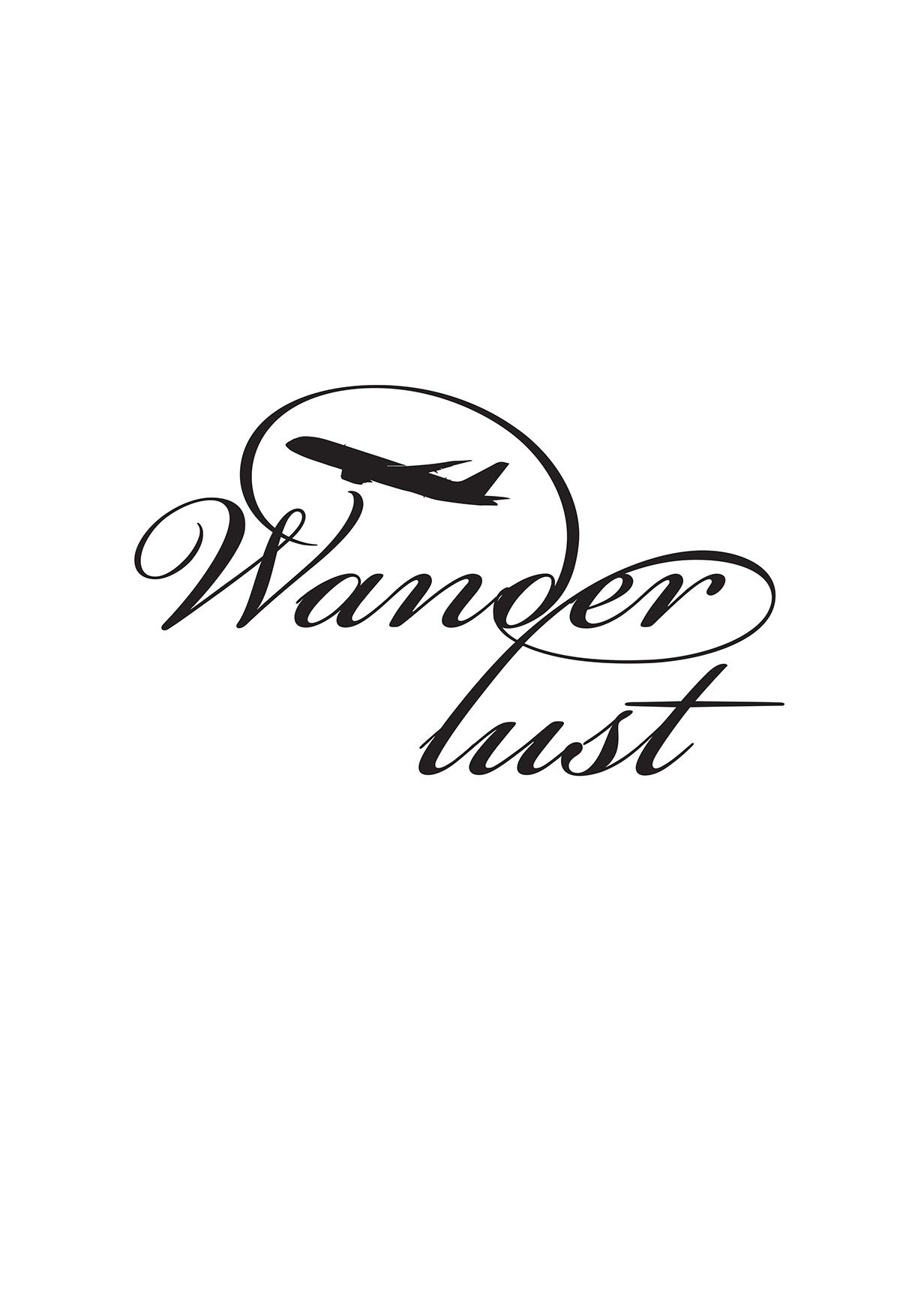 Wanderlust Logo on Behance.