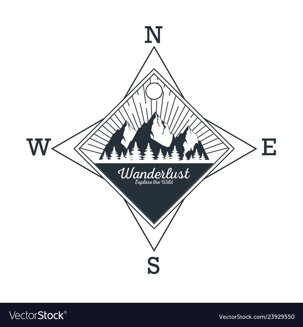 Wanderlust adventure logo.