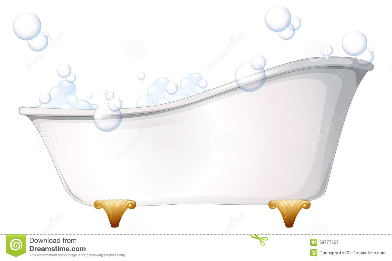 A Bathtub Stock Vector.