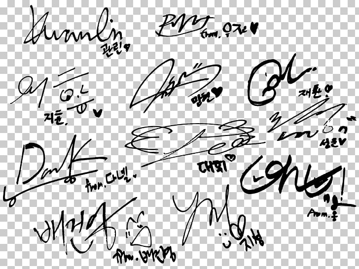 Wanna One Beautiful Burn It Up Autograph, wannaone PNG.