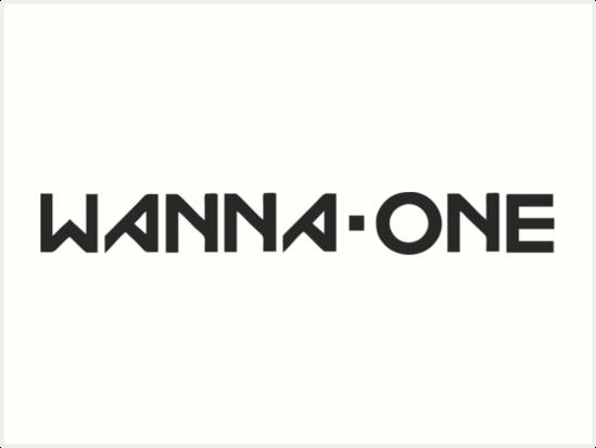 'wanna one black logo' Art Print by dexta.