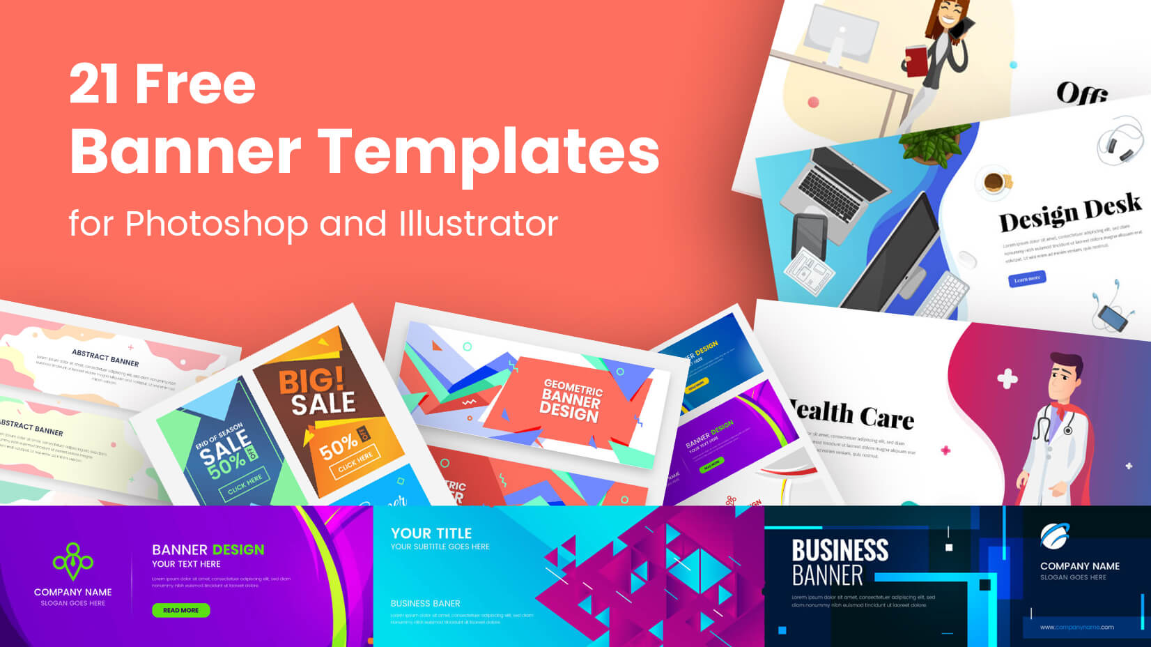21 Free Banner Templates for Photoshop and Illustrator.